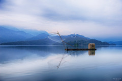 (M.K. Design) Tags: taiwan nantou country yuchi township sunmoonlake sunrise boat mountains blue magichours mirror water lights clouds thelalu walk travel nikon d800e afs afs2470mm28g lens nature hdr landscapes scenery