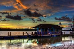 Dark Sunset (Pakcik G) Tags: pakcikg blogsempoi blogsempoicom sunset a6000 orange darksunset outdoor sea seahouse boat bot water slowshutter darkpic photo sky orangesky pakcikgflickrcomunclegwwwblogsempoicommnazizeeblogsempoimyartwork