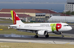 TAP Air Portugal A319-100 CS-TTE (birrlad) Tags: lisbon lis international airport portugal aircraft aviation airplane airline airliner airlines airways airplanes approach arrival arriving finals landing landed runway smoke tyres airbus a319 a319100 a319111 cstte tap airportugal