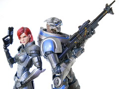 There is no Shepard without Vakarian (Homicide_Crabs) Tags: mass effect garrus vakarian commander jane shepard bioware playarts play arts kai jfigure