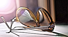 Sliding with my Sun Specs! ;o) (Elisafox22 slowly beating the Shingles!) Tags: elisafox22 sony nex7 50mmf28 macro carlzeiss touit makro planar lens sliderssunday hss sunspecs spectacles sunglasses postprocessing photomanipulated stilllife texturing textures elisaliddell©2016 shockofthenew