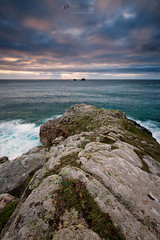 Rocks n rays (T_J_P) Tags: cornwall cotvalley porthnanven cliffs rocks clouds sunset sky sea seascape colour nature
