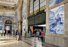 Azulejos at Railway Station (csaba.lehel) Tags: portugal porto railwaystation azulejo