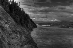 Copper River Black and White (tpeters2600) Tags: alaska autumn fall canon eos7d hdr photomatix tamronaf18270mmf3563diiivcldasphericalif bw blackandwhite monochrome copperriver landscape scenery outdoors