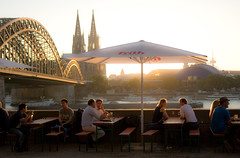 Summer in Cologne (HeinzGuenther) Tags: summertime cologne cathedral hohenzollernbridge river rhine