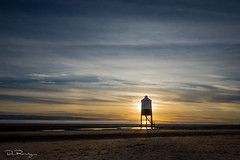 Watchman (DanRansley) Tags: bristolchannel burnhamonsea danransleyphotography somerset beach coast dusk evening light lighthouse ocean sand sea sky sunset tide