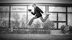 Just Happy (Ben Heine) Tags: trip travel flowers gay windows portrait blackandwhite italy rome reflection smile grass hat architecture start laughing hotel fly flying dance spring high bush friend freestyle energy photographer report energie joy explosion levitation content happiness gear glad creepy suit jeans workshop freak experience chapeau friendly cheers conference canon5d intoxicated hop merry jolly leap sourire bonheur pleasure bounce defyinggravity saut lively markii outburst photographe ecstatic heureux herbes upbeat buisson appareilphoto justhappy exultant jumpforjoy walkingonair benheine creativeproshow carminegirolamo
