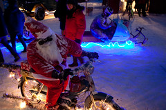 Santa on a bike (Lars Dahlin) Tags: christmas december sweden christmasfair jamtli stersund julmarknad