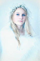 The Snow Princess (Elizabeth Hudson) Tags: christmas portrait photograph snowqueen icequeen snowprincess icemaiden