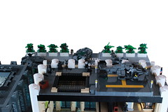 Operation Big Apple White Pillar Building Roof (Andreas) Tags: city lego military darkwater diorama thepurge thepurgeeu thepurgediorama operationbigapple