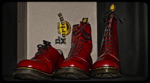 Martens 1460 Cherry Red Cherry Red dr Marten 3 8