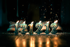 Happy 12-12-12 (Kilkennycat) Tags: glitter canon children shoes candles pennsylvania 50mm14 celebration converse onceinalifetime celebrate 2012 121212 500d december12 kilkennycat t1i ryanconners
