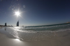 Jumera Beach (Jonny Cairns) Tags: trip sea sun holiday beach sand dubai journey whitesand daytrip jumera