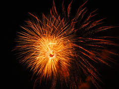 Orange sparkle, firework that is really amazing