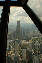 Petronas Towers from the TV Tower in Kuala Lumpur (clear_eyed_man) Tags: