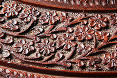 Day 329 - Carved table top (Ben936) Tags: wood floral leaves table pattern traditional decoration craft carving tabletop