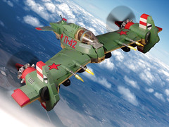 D-74 Partisan (JonHall18) Tags: plane fighter lego aircraft fantasy moc skyfi dieselpunk
