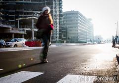 (Cristina Borgonovi (Kikkius)) Tags: street city light people woman strada walk milano persone route contrasto camminare