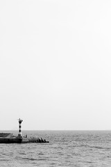 Sea /   China Tourism / SML.20121012.7D.09735.BW (See-ming Lee  SML) Tags: china travel sea bw lighthouse tourism nature water cn landscape photography serenity  minimalism qingdao    2012 shandong       sml    canon2470f28l  ccby chinatourism  smlprojects canon7d smlphotography smlbw photographer:initials=sml photographer:name=seeminglee company:name=smlphotography company:name=smluniverse SML:Projects=bw smltravel SML:Travel=qingdao SML:Projects=serenity SML:Projects=chinatourism SML:Projects=landscape SML:Projects=smltravel