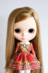 Red Plaid School Uniform Dress