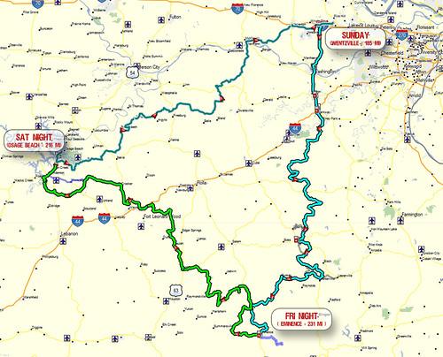 PRC Ride 2012 Route