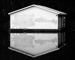 Building Reflection BW E4 8 x 10 (Michael A Tipton) Tags: nc buildingreflection huntersville michaelatipton