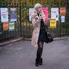 (-will wilson- (away)) Tags: street woman paris france public square phone candid x 2012 boulevardsaintgermain artlibre