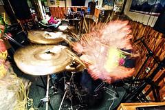 Human Tornado (Matt Molloy) Tags: music playing motion me myself fun drums photography timelapse movement drumming jam merged lovelife photostack mattmolloy i timestack 340photos