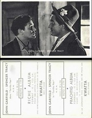 John Garfield, Spencer Tracy - German Card (Front and Back) (addie65) Tags: hat 1940s hollywood drama mgm moviescene moviestill tortillaflat hollywoodland classicactor classicfilm fanphoto classichollywood johngarfield spencertracy vintagehollywood fancard deceasedactor