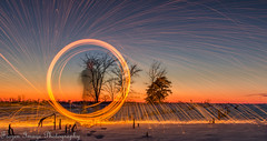 Ring of fire! (Frozen Image Photography) Tags: trees winter snow minnesota fire long exposure ring sparks matchpointwinner uncool7 thepinnaclehof kanchenjungachallengewinner frozenimagephotography tphofweek185 mpt240