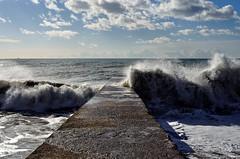 Heaving #2 (Michael Babakov) Tags: sea nature water landscape nikon waves wave blacksea d90