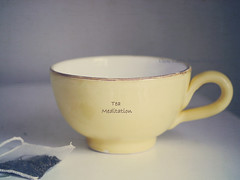Tea Meditation (NaturalPhotographySpa) Tags: herbaltea teatime teabag cupoftea teameditation texturedyellowcup nationalhotteamonth