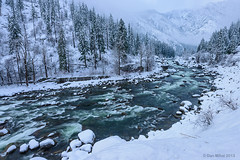 Winter Playground (Dan Mihai) Tags: longexposure winter white snow nature beautiful fog forest river landscape landscapes washington rocks hill wideangle pacificnorthwest wenatchee washingtonstate leavenworth stevenspass tumwater tumwatercanyon