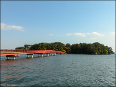 Fukuura Bridge (Toll) (richfowler) Tags: bridge trees water japan forest  matsushima    miyagiprefecture  coolpixp5100  fukuuraisland fukuurabridge