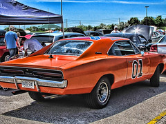 General Lee (steelers_#1fan) Tags: road ontario canada colour art halloween american hero dodge dukesofhazzard mopar rims rt hdr charger countryroad amateurs brampton generallee horsepower goodoldboys torontoautoshow torontocarshow americanmusclecar moparcarshow