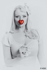 Leigh_D7K9551 (sparkeyb) Tags: red portrait love beautiful beauty lady female 35mm nikon heart flash valentine romance romantic strobe selectivecolour homestudio colourpop offcameraflash strobist yongnuo d7000 rf603n sparkeyb