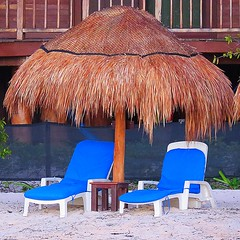 Beach Chairs (5of7) Tags: two blue beach chairs umbrella 3waychallenge challengewinner mexico empty placetosit