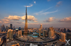 Last Light on Burj Khalifa (DanielKHC) Tags: sunset golden nikon dubai uae khalifa hour burj d800 nikkor1424mm photoengine oloneo