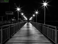 Silver footbridge.- [EXPLORED] (Pablin79) Tags: light people white black monochrome night digital canon silver reflections river eos pier reflex interestingness footbridge flash explore lanterns 5d parana pipa posadas markii 580 speedlite explored canoneos5dmarkii 5dmkii pabloreinsch pabloreinschphotography