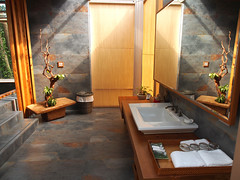 灑滿天光的浴室空間,地板上鋪著國外進口的頂級地磚 (Dear b&b) Tags: travel taiwan villa bb dear 苗栗 三義 民宿 樹也 dearbnb chooart dearbnbcom dearbb