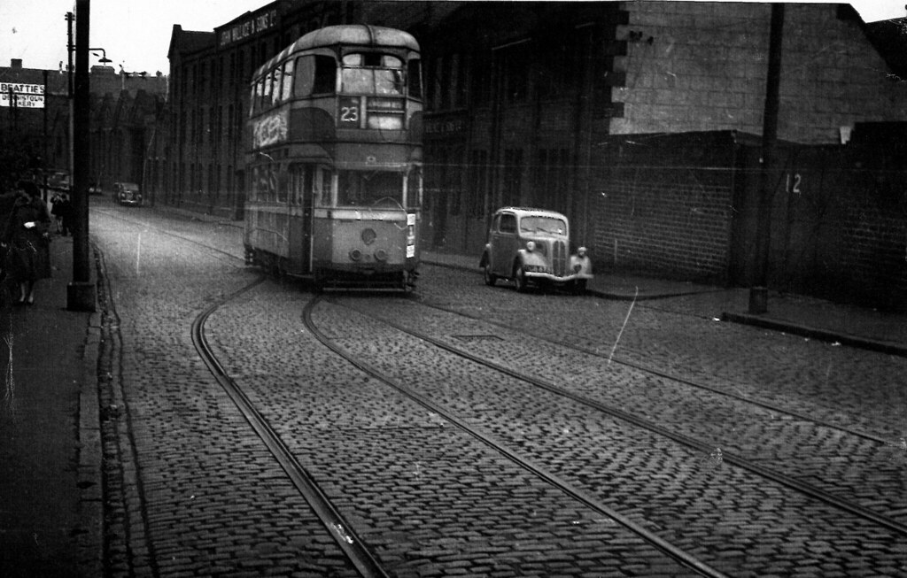 Last Tram to leave Dennistoun Depot 1963