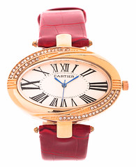 Cartier-Model09 (Hassan AlMarhoun) Tags: red leather hand watch cartier