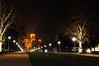 St. Mark's Church (Hugo Chinaglia) Tags: park city parque trees cidade orange church yellow night garden lights serbia laranja marks amarelo igreja jardim noite belgrade arvores belgrado d90 servia tašmajdan 18105mm