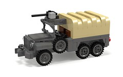 WC 63 'Big Shot' 6x6 (Florida Shoooter) Tags: usa usmc army lego ww2 povray ldd weaponscarrier wc63 wc63bigshot