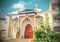 Shiny Mosque (Yassine Abbadi) Tags: mosque mosquee tetuan tetouan morocco maroc medina islam coran koran minaret tree sky summer cloud sun gate arch