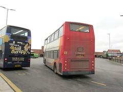 18342, King's Lynn, 19/02/16 (aecregent) Tags: kingslynn 190216 stagecoacheast stagecoachnorfolkgreen trident alx400 18342 ae55dkf 505 rear