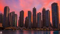 Beauty of sunset. (sajathahamed) Tags: mydubai canon canon7d 7d markii 7dmarkii sunset dubai dubaimall uae emirates dxb