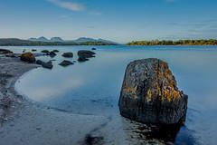 Swanwick Bay (robertdownie) Tags: sunrise morning red water rock bay australia still oyster tasmania crisp east coast coles freycinet national park sandwick peninsula the hazards litchen swanwick buckleys rocks