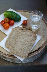 DSC_0504 (Sete della vita) Tags: breads pastries homemade wheat sourdough rye bran flour water milk tomatoes cucumber vodka snack alcohol