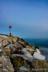Southbourne summer sea (Nick_Miles) Tags: nikon d7000 sunset beach groynes evening quiet long exposure sky